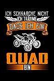 Ich schnarche nicht Quad ATV: Taschenbuch / Notizbuch mit Dirt Bike Rider Motiv -in A5 (6x9 Zoll) gepunktet (dot grid)