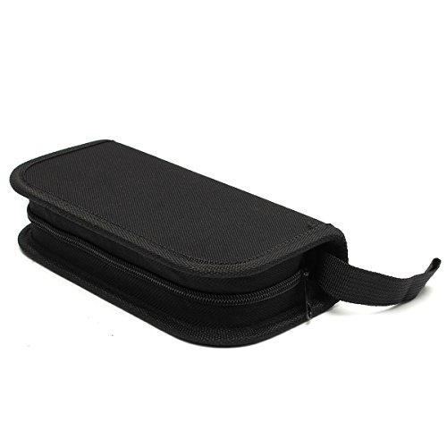 GOZAR Nieuwe 1 PC's Zwart Zipper Case Bag Voor Horloge Reparatie Tool Kit Watchmaker's Tools