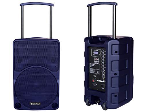 Sunstech Muscle Pro - Altavoz portátil Bluetooth de 40W con Trolley. Color...