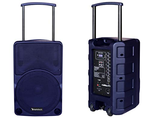 Sunstech Muscle Pro - Altavoz portátil Bluetooth de 40W con Trolley. Color Azul.