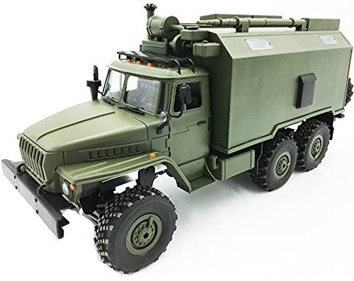 SummarLee RC Military Truck Army Green, 1:16 Scale Model 2.4G Remote Control Military Truck Army Car 6WD Off Road Crawler Vehicle Toy Gift para niños Adultos
