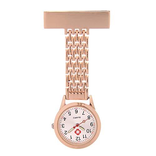 HCFSUK Reloj para Enfermeras, Reloj para Enfermeras Reloj de Bolsillo Reloj de Pecho Reloj de Bolsillo médico para Hombres y Mujeres Doctor Estudiante Reloj de Cuarzo Luminoso Reloj de Bolsillo imp