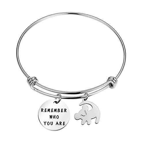TGBJE Remember Who You Are Bracelet Inspired Bangle Lion King Gift for Friend (Lion King bangle)