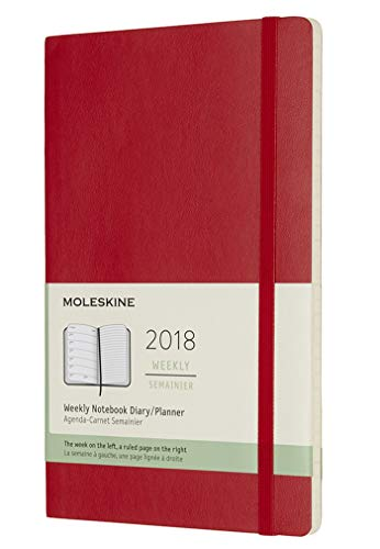 Moleskine Classic 12 Month 2018 Weekly Planner, Soft Cover, Large (5'...