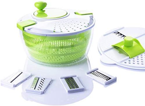 7 in 1 Multifunction Kitchen Gadget set 4L Salad Spinner Vegetable Dryer Grater Slicer product image