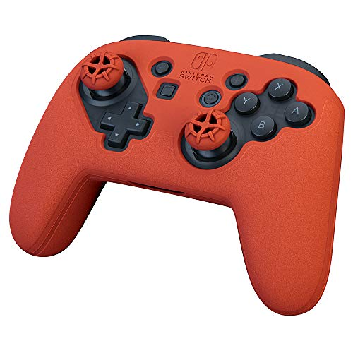 Nintendo Switch Action and Thumb Grip Pro Controller - Red [video game]