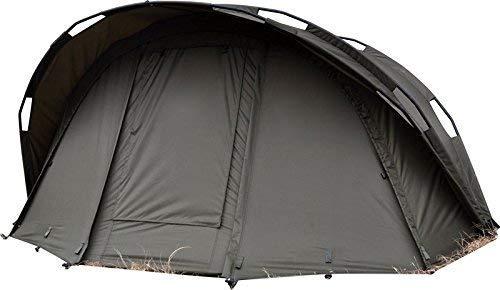 Carpline24 Angelzelt Economic 1-Mann-Bivvy I stabiles 1-Mann-Karpfen-Zelt wasserdicht 10.000mm Wassersäule I schneller Aufbau I leichtes Fishing Tent I Outdoor Camping Festival I 290x230x130cm 10kg
