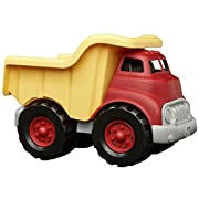 #LightningDeal Green Toys Dump Truck in Yellow and Red - BPA Free, Phthalates Free Play Toys for Gross Motor, Fine Motor Skill Development. Pretend Play
