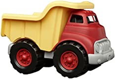 Green Toys Dump Truck in Yellow and Red - BPA Free, Phthalates Free Play Toys for Gross Motor, Fine Motor Skill Development. Pretend Play , Red/Yellow