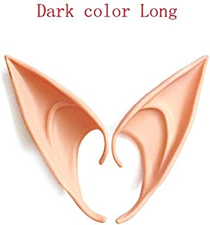 TANGGOOO 1 Pair Fairy Ears Latex Elf Ears Party Props Cosplay Accessories Latex Soft Prosthetic False Ear Halloween Party Masks Must Have Kids Items Boys Favourite Characters