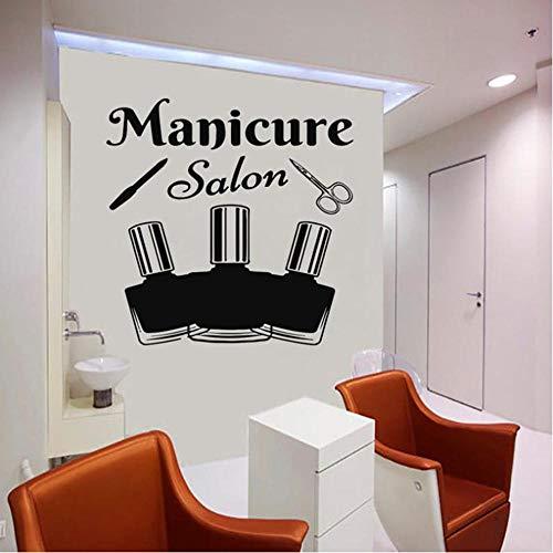 Salon sticker fenêtre signe autocollant manucure beauté femme visage cheveux salon cheveux style cheveux style art murale 42x42cm