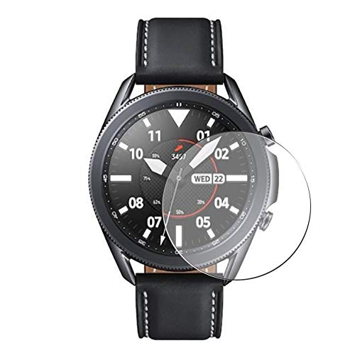 Vaxson 3 Unidades Protector de Pantalla, compatible con SAMSUNG galaxy watch3 watch 3 45mm [No Vidrio Templado] TPU Película Protectora Reloj Inteligente Film Guard Nueva Versión