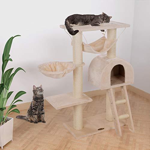 Kratzbaum Katzenbaum CAT018 Mittelhoch 100 cm Beige - 2