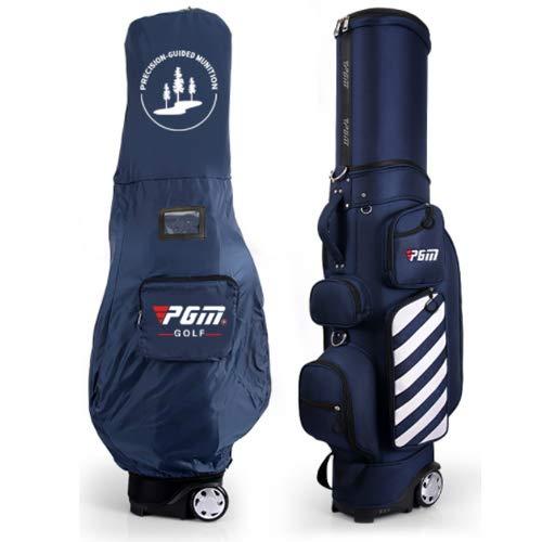 POSMA PGM-QB041BLU Mykuja Golftasche mit Rollen, für Golf, Reisen, Golftasche