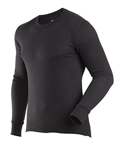 ColdPruf Men's Basic Active Wear Crew Top Black Medium