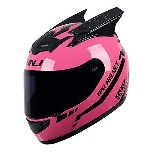 KKoom Casco Modular Moto DOT Homologado Casco Integral Transpirable Universal Para Hombre Mujer para Ciclismo Motocicleta Bici Carrera(Rosa)