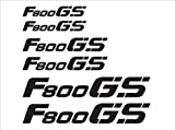 The Pixel Hut gs00014b Motorcycle Reflective Decal Kit for BMW F800 GS - Black Reflective