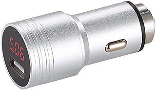 reVolt Pkw Voltmeter: Kfz USB Ladegerät mit Display, Metall Gehäuse, QC 2.0, 12/24 V, 2,4 A (Kfz USB Netzteil)