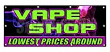 Vape Shop Lowest Prices Around Sticker Sign E-Cigs Liquids Bong Sticker Sign - Sticker Graphic Sign - Will Stick to Any Smooth Surface