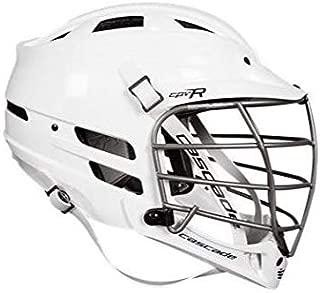 Cascade White CPV-R Lacrosse Helmet Silver Mask-XS