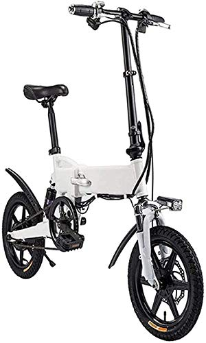 Bicicleta Eléctrica Bicicleta eléctrica de 14 pulgadas Bicicleta eléctrica eléctrica con pedal para adultos y adolescentes, bicicleta eléctrica de 16