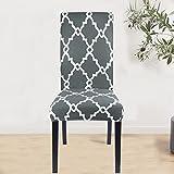 Geometry Spandex Chair Slipcover Impreso Stretch Elástico Funda de Silla para Comedor Oficina Boda Banquete Fiesta A2 2 uds