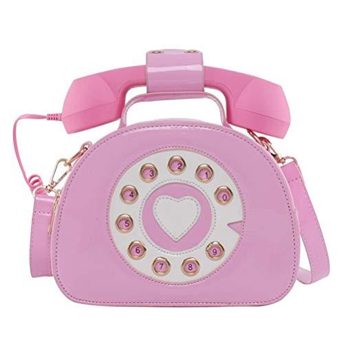 VALICLUD Bolso bandolera con forma de teléfono para mujer, color, talla 21X16CM