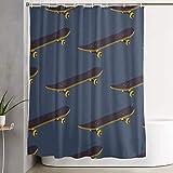 BCVHGD Duschvorhang,Skateboard,Bad Vorhang waschbar Bad Vorhang Polyester Stoff mit 12 Kunststoffhaken 180x210cm