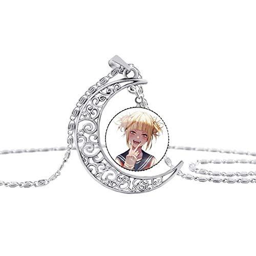 cluis My Hero Academia Anime anhänger Glas cabochon Halskette Cosplay Cartoon Halskette anhänger Kette Halskette, schönes Geschenk für Anime Fans(Himiko Toga)