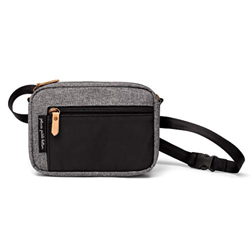 Petunia Pickle Bottom Belt Bag for Women | Graphite/Black | Wristlet, Crossbody Strap, Waist Belt, Purse, Wallet | Versatile and Fashionable | Water Resistant