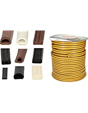 KOTARBAU Afdichttape voor deuren en ramen, vers.maten en soorten, deurdichting, dichtingsstrips, raamafdichting, rubberen afdichting, zelfklevend EPDM-isolatie P 9 x 5,5 mm / 50m lang wit