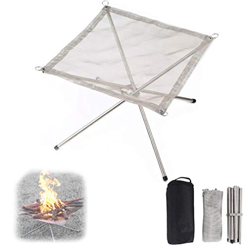 DQY Foldable Outdoor fire pits,Portable Garden fire Bowls,Camping Campfire Brazier,for Patio Backyard Picnic,L