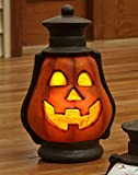 Oversized Lighted Halloween Pumpkin Porch Lantern Decoration