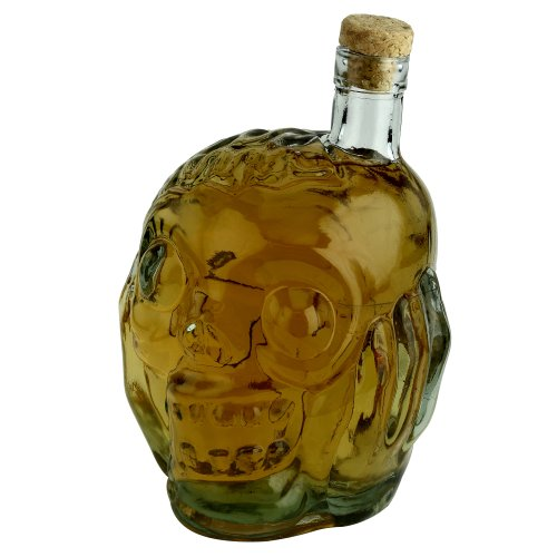 Zombie Glass Liquor Decanter ( 38 Oz )- Fill Your Ghoulish Glass With Whiskey Scotch or Wine - Rise From The Dead With Each Pour - The Perfect Halloween Party Accessory