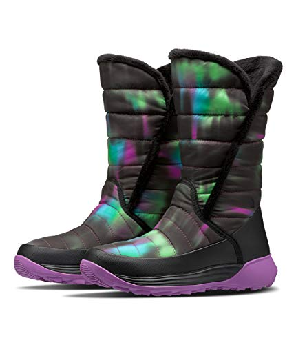 The North Face Youth Amore II, TNF Black/Iris Orchid Purple, 4 Big Kid