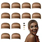 Dreamlover Wig Caps for Lace Front Wigs, Brown Stocking Wig Cap for Women, Bald...