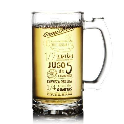 HENGTONGTONGXUN Tazza di birra, tazza di birra, di vetro creativa della tazza, della famiglia grande capacità bere bicchiere, tazza di succo, resistente al calore tazza di vetro Facile da usare