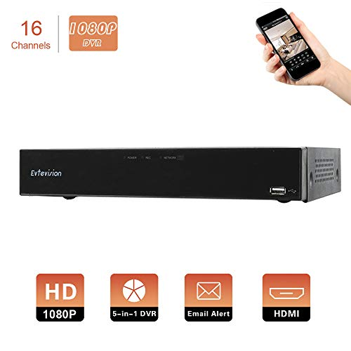 Evtevision 16 Canales HD 1080P Grabador de Video Digital H.