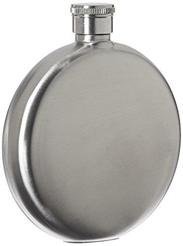 Relags Flachmann 'Brush', rund, Silber, 150 ml