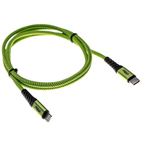 vhbw Lightning Cable Lightning to USB Type C compatible with Apple iMac (Retina 4K, 21,5', 2019) iOS Device - 2in1 Charger & Sync Cable green 100cm