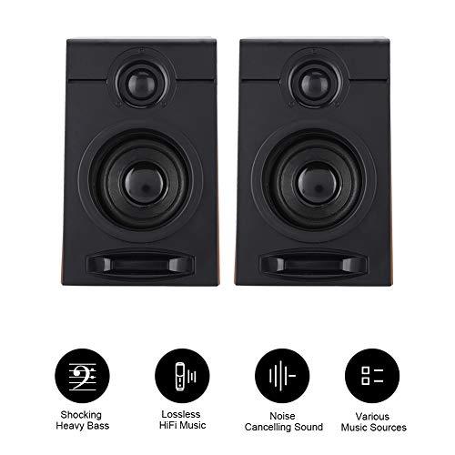 Diyeeni Computer Speakers 5V / 1A 3in großer Lautsprecher Verlustfreier HiFi-Musik-PC-Subwoofer für TV, Computer, Tablet-PC, Telefon und andere Audiogeräte