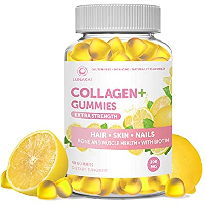Collagen Gummies Anti Aging Protein Supplements for Men & Women, Vitamins for Hair, Skin and Youthful Appearance