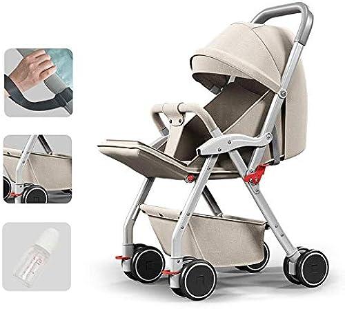 MINISU S ling BabStroller Folding SafetTrolleAdjustable Leichter Verstellbarer Kinderwagen Universal Trolle (Folding Größe  38.5  7.8 inch), Cream-C Reise (Farbe   Cream, Größe   D)