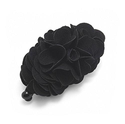 Meilliwish Blumes Rose Haarklammer Pferdeschwanz -Halter(H41)(Schwarz)