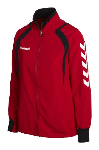 hummel Damen Zip Jacke Team Player Micro, True red, XL, 36-412-3062