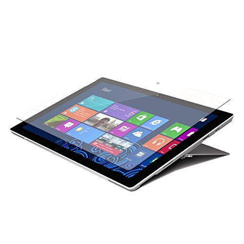 Targus Tempered Glass Screen Protector for Microsoft Surface Pro 6, Surface Pro (2017), and Surface Pro 4 with High Viewing Clarity, Bubble-Free Adhesive, Impact-Resistant, Shatter-Proof, Clear (AWV1290USZ)