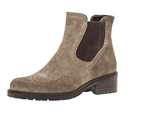 Gabor 96.091 Damen Stiefeletten,Chelsea Boots,Frauen,Stiefel,Halbstiefel,Schlupfstiefel,flach,Comfort-Mehrweite,Reißverschluss,ratto (Mel.),4 UK