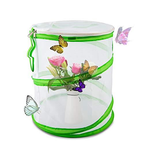 LUTER Insekten- und Schmetterlingslebensraum Käfig Pop-up-Design Zusammenklappbar Insekten-Netzkäfig für den Naturwissenschaftlichen Unterricht 30×35cm