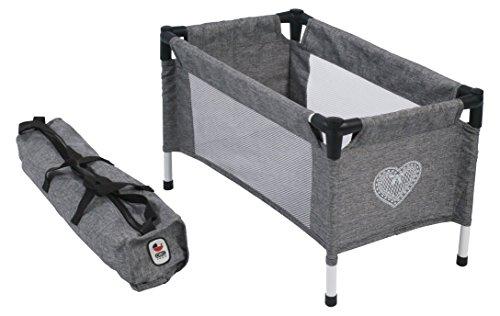 Bayer Chic 2000 652 76 Reisbed voor babypoppen, jeans grijs