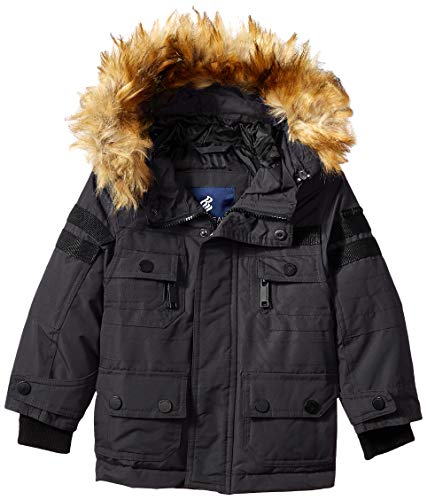 Rocawear Boys' Toddler Heavy Long Parka Jacket, Charcoal, 4T